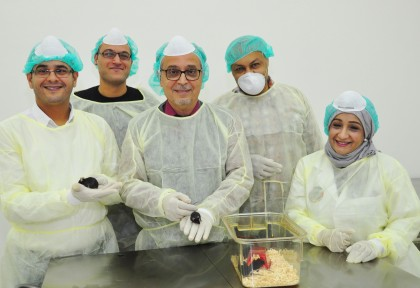 A team of researchers at the Arabian Gulf University.