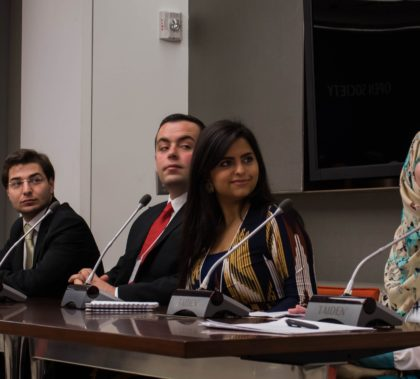 Edgar Kaade, Suhaib Ibrahim, Sana Mustafa and Fatima Alzoubi at the Digital Education Conference in New York City.