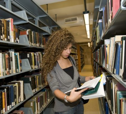 Many of the social-sciences graduate students are self-funded. (Photo Credit: AUC Library).