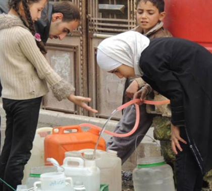 Most children are walking at least half an hour to collect water from the nearest mosque or public water point, UNICEF reported.