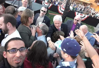 Almahdi took a selfie with President Bill Clinton during his visit to Fort Collins to encourage voters to vote for Hillary Clinton.