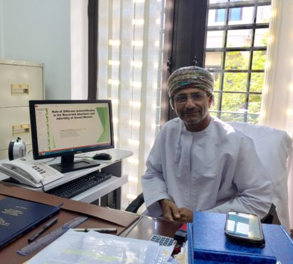 Mohammed al-Buloshi at Sultan Qaboos University Photo by: Benjamin Plackett