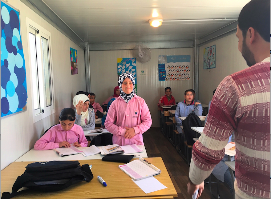 Young students during an English class at a MAPS school in the Beqaa' valley (Photo credit Ursula Oaks)