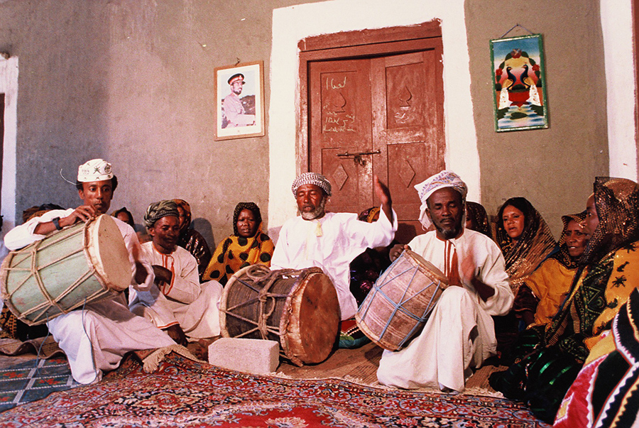 A musical gathering in Oman. Photo Credit: Oman Centre for Traditional Music.