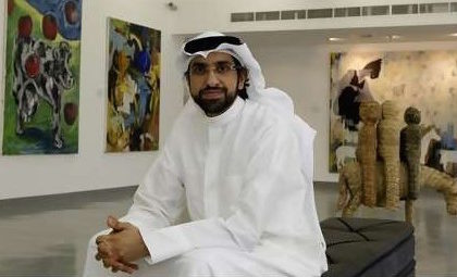 Sultan Sooud Al-Qassemi with his art collection.
