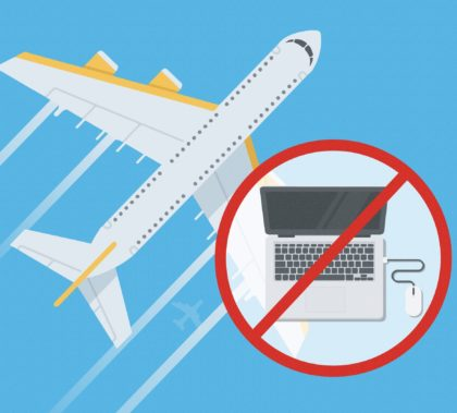 Laptops can no longer be carried in hand luggage on USA and UK-bound flights from some countries.