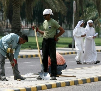 Many Kuwaiti lawmakers want to reduce the number of foreign workers in the country, saying they take jobs from Kuwaiti graduates. (AFP)